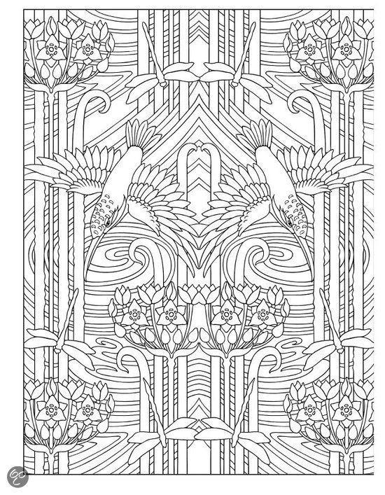 Creative Colouring Patterns : Coloring creative and animal design on