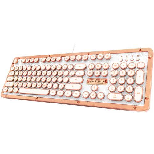 Azio Retro Classic Usb Backlit Mechanical Keyboard Posh Keyboard Usb Macro Keys