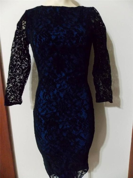 Victoria s secret blue lace dress