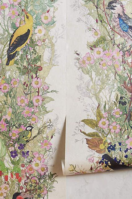 Bird Sanctuary Wallpaper - anthropologie.com: