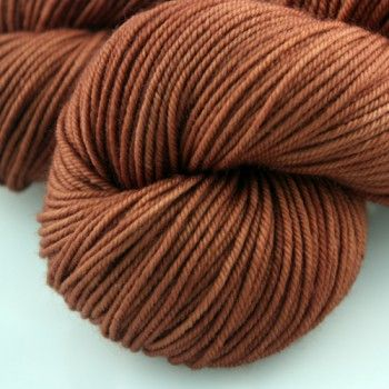 Squoosh fiberarts Sublime Worsted in Toffee. Loving brown right now!