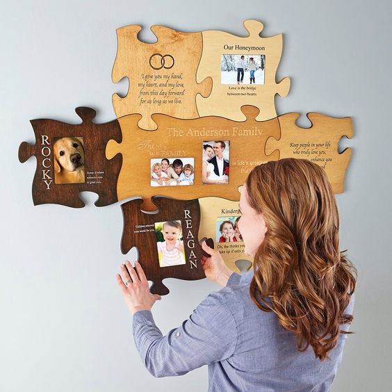 personal creations co puzzle photo frames home stuff pinterest