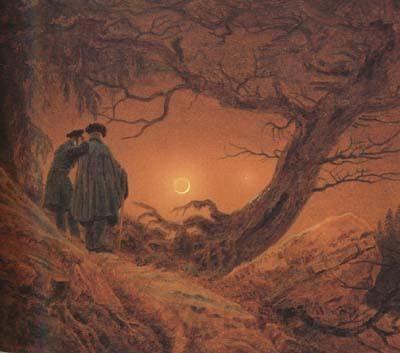 Caspar David Friedrich Two Men Contemplating the Moon (mk10)
