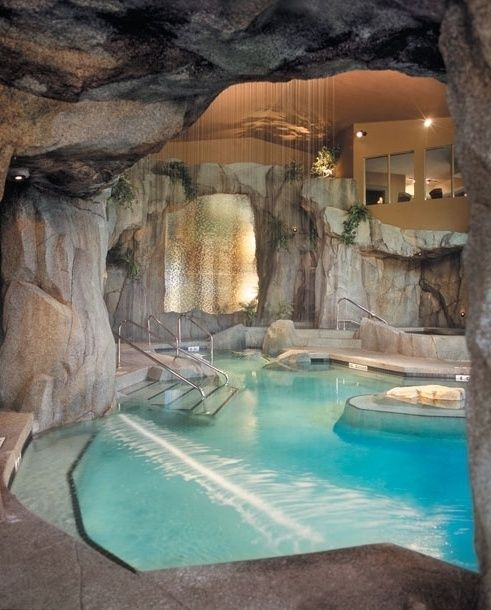 Gorgeous Indoor Pool...I think there should be a slide for added fun. :)