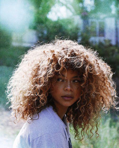 Curly hair natural beauty