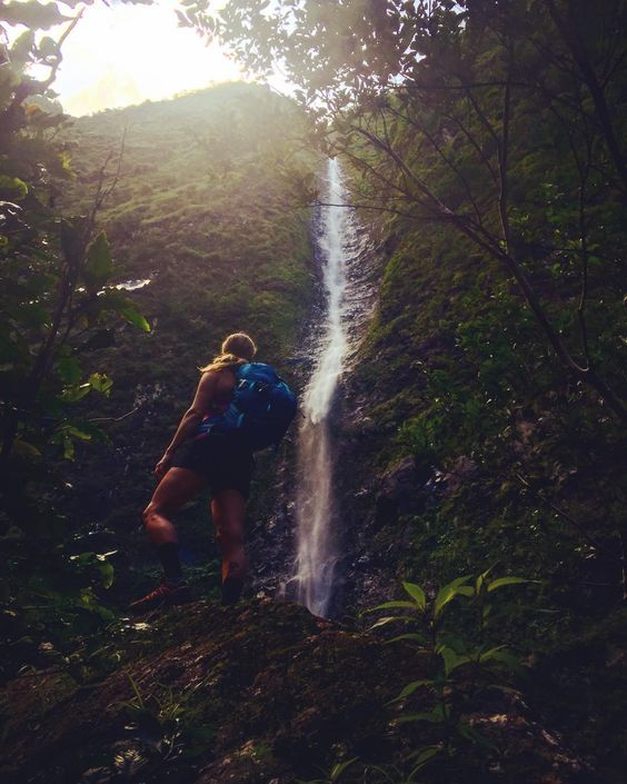 2 days of hiking to #kalalau with #adventuregirl @katrinastrand and Still in awe by the beauty of this place  One more day in kauaï and tomorrow we will be heading back to a full on winter in whistler . #bestbuddies #perfectoffseason #happybarelli by yoannbarelli