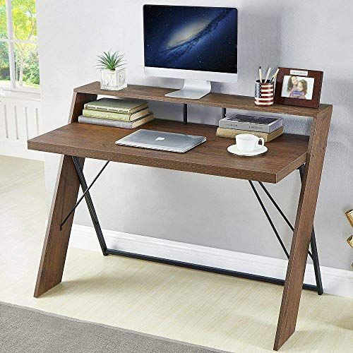 New Hsh Rustic Computer Desk Vintage Metal Wood Writing Desk Industrial Soho Study Table Home Office Brown 47 Inch Online Lovetopfashion In 2020 Rustic Computer Desk Wood Writing Desk Study Table