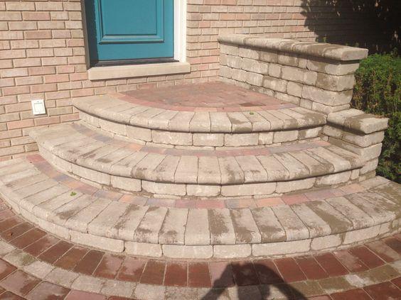 brick patio stairs