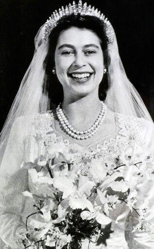 Princess Elizabeth,on her wedding outfit.