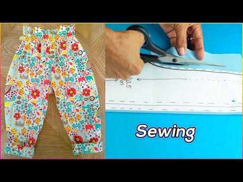 Diy Cómo Hacer Un Pantalón Para Niña Paso A Paso Diy Youtube Pantalones Para Niños Patrones De Ropa Para Niños Costura De Vestidos De Niñas