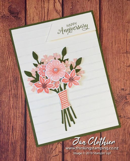 Thinking Stamping Retro Rubber 106 Design Team Card Flower Cards Floral Cards Wedding Cards