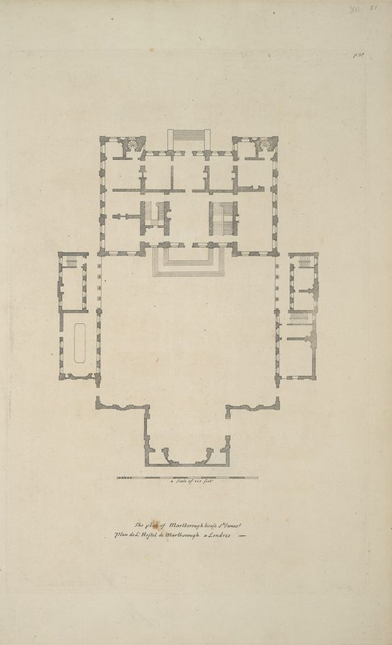 Marlborough house floorplan castles and palaces for Marlborough house floor plan