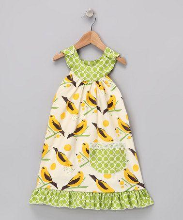 Yellow Canary Yoke Dress