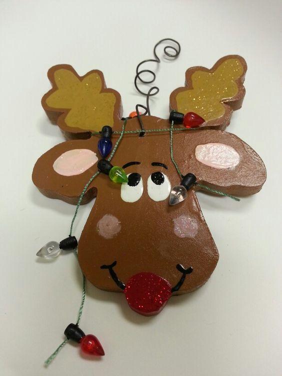 Handmade Clumsy Reindeer ornament