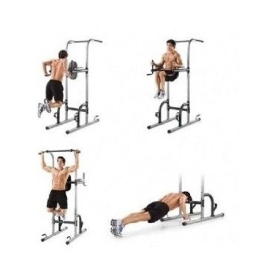 Tower Power Up Pull Station Gym Dip Bar Exercise Workout Home Push Chin Fitness Stand Knee Raise At Home Gym At Home Workouts No Equipment Workout