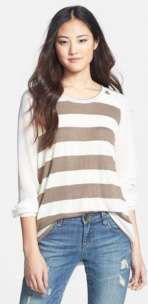 Comfy long-sleeve striped Tee
