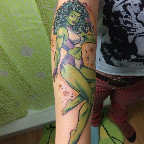 She-Hulk tattoos