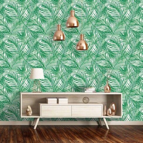 Tropical Peel Stick Wallpaper Green Opalhouse Peel And Stick Wallpaper Tropical Wallpaper Wallpaper