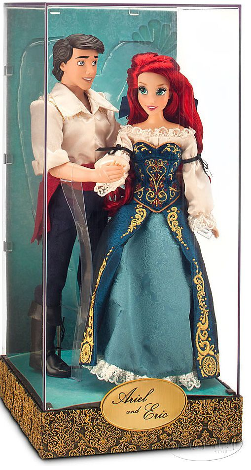 I love this Ariel and Prince Eric limited edition Disney Fairytale Designer Little Mermaid doll set.