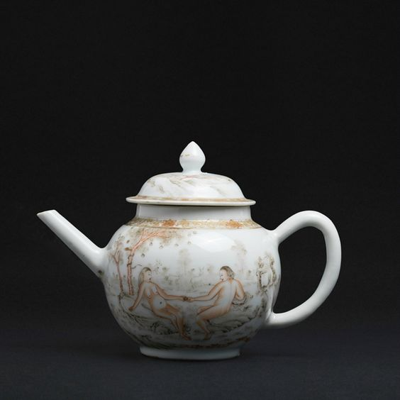 Adam and Eve Teapot, China, Qianlong period
