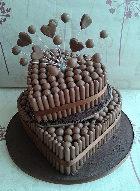 Cake Art Creations By Jane : Heart Malteser Wedding Cake by Creations By Paula Jane ...