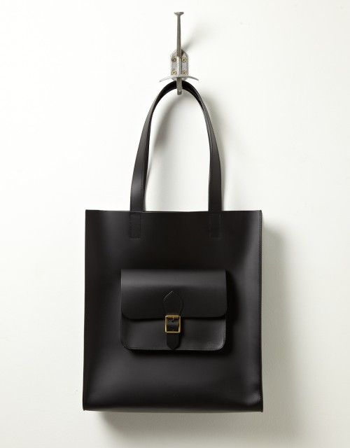 Jas MB Leather Shopper (black) recycled leather