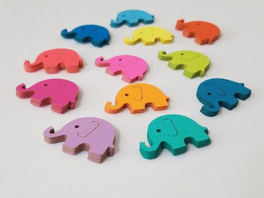 can be done in pink or blue accents Elephant die cut