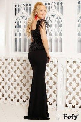 rochie de seara neagra fofy lunga cu paiete si fulgi mermaid formal dress formal dresses fashion pinterest