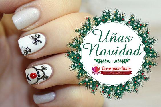Uñas navideñas decoradas con reno – Video tutorial paso a paso | Decoración de Uñas - Manicura y Nail Art