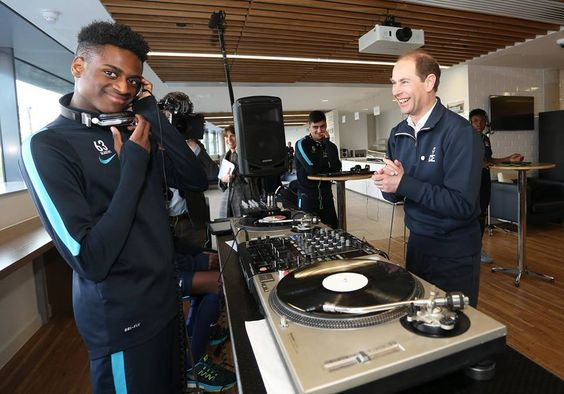 The Earl of Wessex, Trustee of The Duke of Edinburgh's Award, visits Manchester City FC - the first Premier League Football Club to offer the Duke of Edinburgh's Award to their Academy Players as part of their personal development. 24 feb 2016