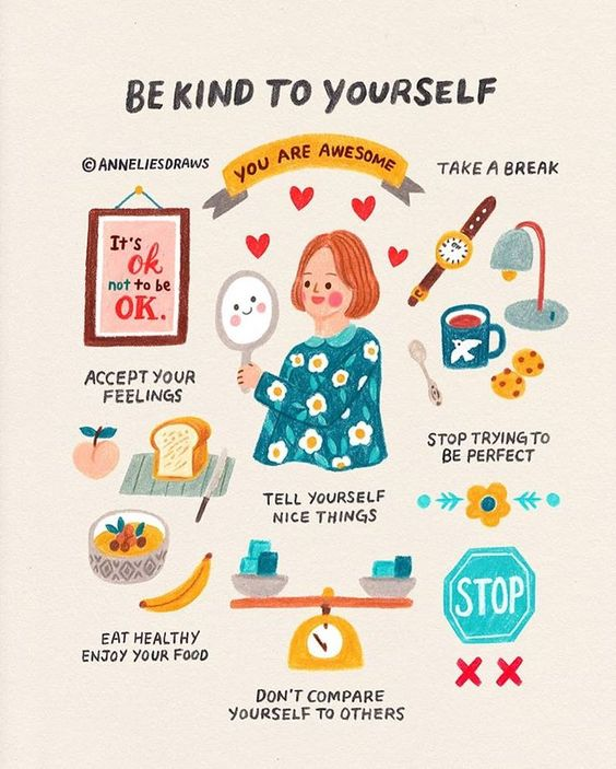 A friendly reminder to myself and all of you ❤ Let's say a nice thing to ourselves! I will start first. Don't be afraid, you are doing…