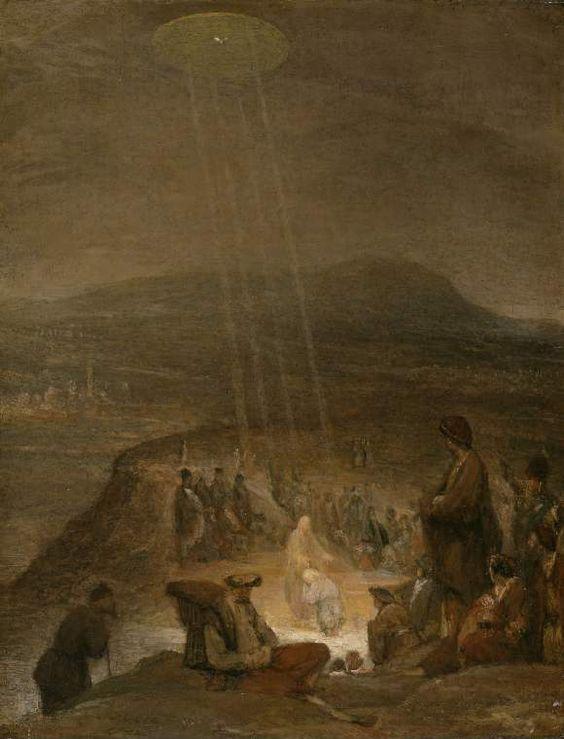 Arent de Gelder: de doop van Christus. Ca. 1710. Fitzwilliam Museum, Cambridge. Marcus 9: 1-11: In die tijd kwam ook Jezus naar Johannes toe. Jezus kwam uit Nazareth, een plaats in Galilea. Hij werd door Johannes gedoopt in de Jordaan. Zodra Jezus weer uit het water kwam, zag hij dat de hemel openging. Uit de hemel kwam de Geest naar Jezus toe. Hij kwam naar beneden als een duif. En Gods stem klonk uit de hemel: Jij alleen bent mijn zoon. Mijn liefde voor jou is groot.