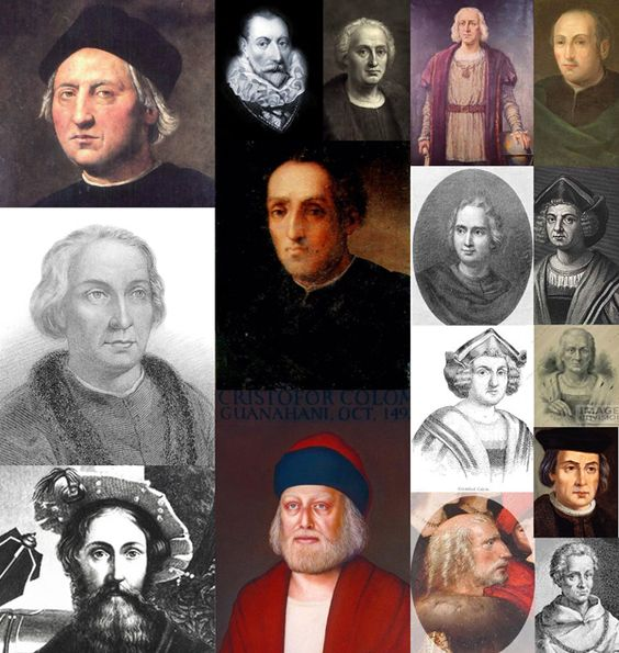 Here we can see official images of Columbus  not look anything like each other, showing that Columbus were several personalities. Try making your own photo search google Columbus.   native american history