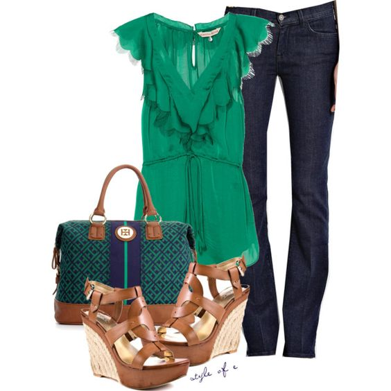 Love the green & navy