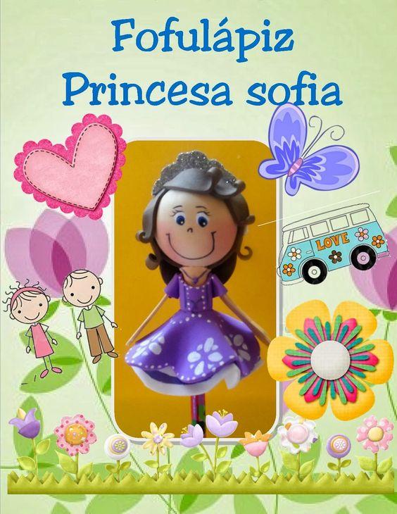 Moldes para Todo: ~ Fofulápiz Princesa Sofía ~