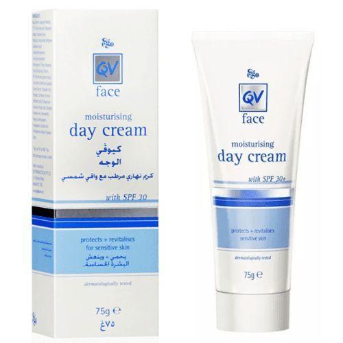كريم نهاري مرطب مع واقي شمس من كيو في 75غ متجر راق Moisturizer Sensitive Skin Face