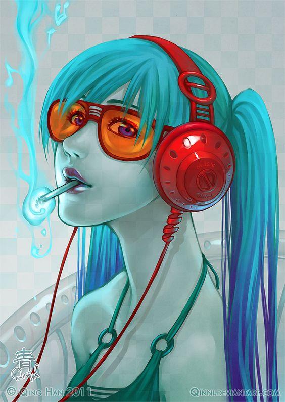 Inhale the Music by *Qinni on deviantART