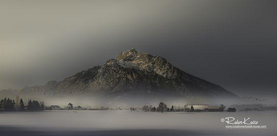 Sunrise at the Untersberg mountain near Salzburg