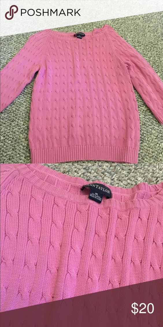 Ann Taylor Medium Sweater Worn a few times. In great condition! Ann Taylor Sweaters Cardigans