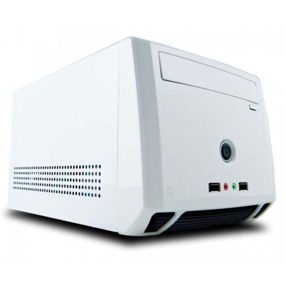 Mini Pc a medida. White power! Dimensiones: 200 x 166 x 303 mm F.A.: 150W Elige tus componentes y te los montamos gratis.  Procesadores Intel i3/i5 Hasta 8Gb de RAM Hasta 3Tb de HDD