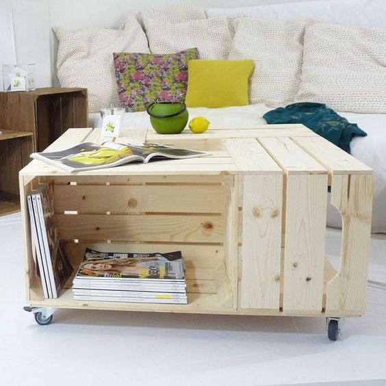 Table Basse 4s I Simply A Box Diy Caisse En Bois Caisse Pommes Apple Crate