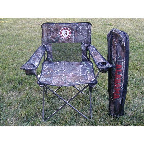 Alabama Crimson Tide NCAA Ultimate Real Tree Camo Adult Tailgate Chair