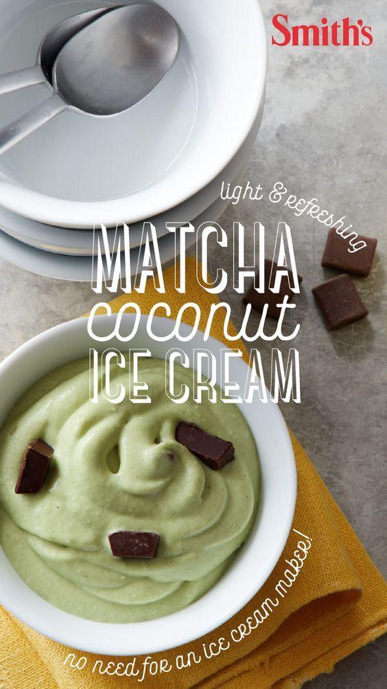 Matcha Coconut Ice Cream Smith S Food And Drug Recipe Food Coconut Ice Cream Recipes Desserts