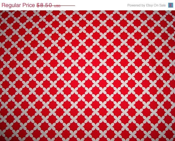 FALL SALE Beatrice Weave Fabric in Red by by sewcraftscorner, $7.57