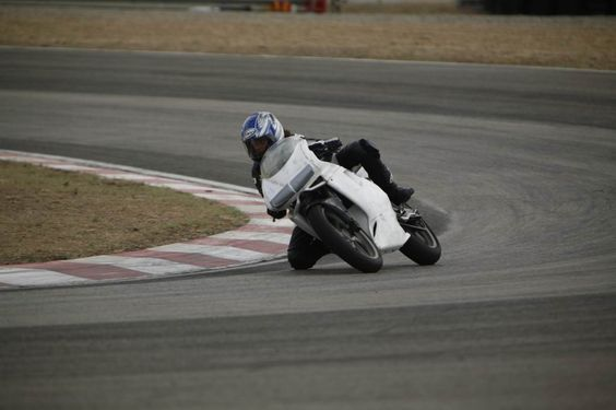 Riding my Cagiva Mito 125, Mores Track, Sardinia