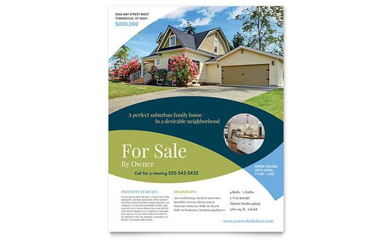 Love this design! Great use of overlapping color and and - home for sale brochure