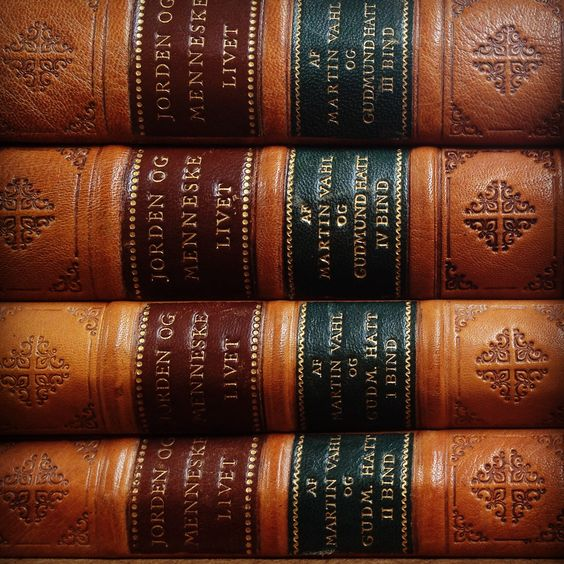 Antique leather bound books up close and personal www for Antique books for decoration