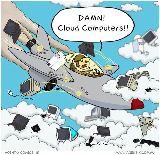 El cloud computing: el peor enemigo de los aviadores ;-)