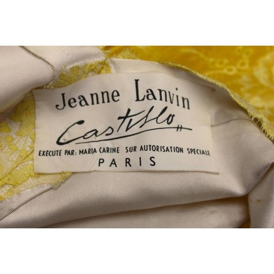 1950s Jeanne Lanvin by Castillo Yellow Lace and Tulle Ball Dress ❤ liked on Polyvore featuring dresses, lace cocktail dress, short cocktail dresses, short dresses, short lace cocktail dress and brown cocktail dress