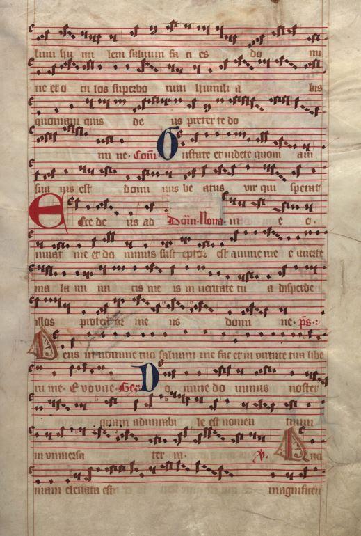 Moosburger Graduale um 1360 Moosburg Cim. 100 (= 2° Cod. ms. 156)  Folio 259